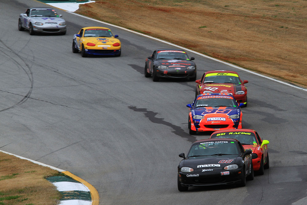 2017 Road Atlanta Majors - Michael Carter leads Selin Rollan Danny Steyn, Preston Pardus, Cliff Brown Skip Brock and Kyle Webb